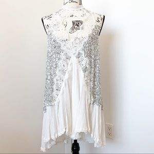 Free People Dresses - Free People White Lace Slip Dress